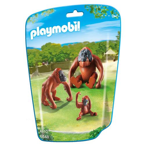 Orangutani s mládětem Playmobil 3 figurky