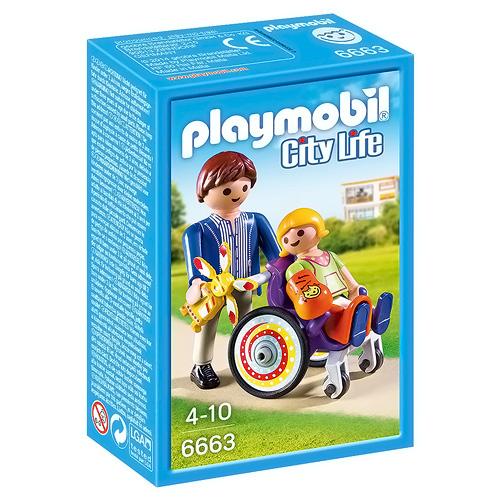 Dítě na vozíku Playmobil Život ve městě, 12 dílků