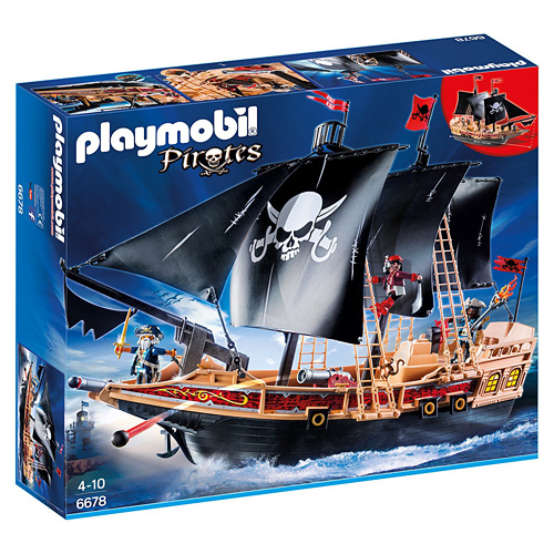 Pirátská bitevní loď Playmobil Piráti, 115 dílků