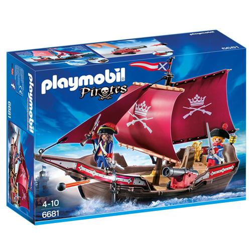 Loď vojenské gardy s dělem Playmobil Piráti, 60 dílků