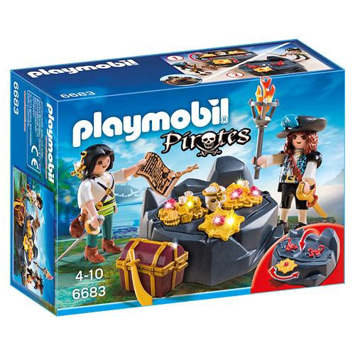 Pirátská skrýš s pokladem Playmobil Piráti, 41 dílků