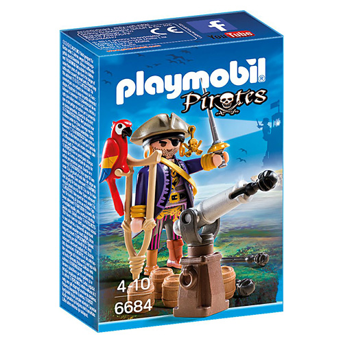 Kapitán pirátů Playmobil Piráti, 24 dílků