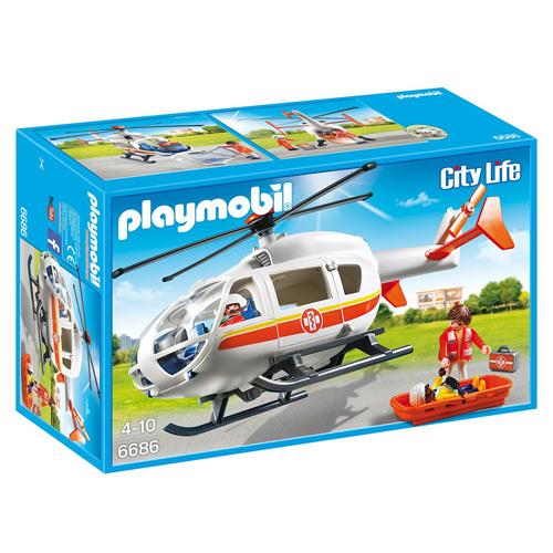 Záchranný vrtulník Playmobil Záchranáři, 29 dílků