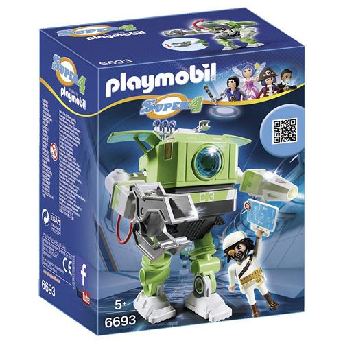 Robot Čistič Playmobil robot a panáček s doplňky, 38 dílků