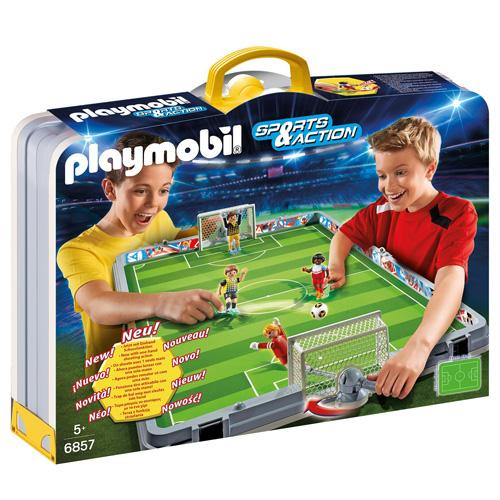 Přenosná fotbalová aréna Playmobil čtyři panáčci, 20 dílků