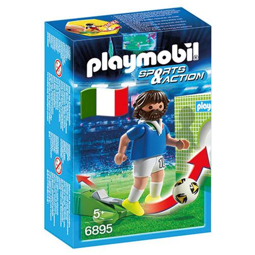 Fotbalista Itálie Playmobil panáček s míčem, 5 dílků