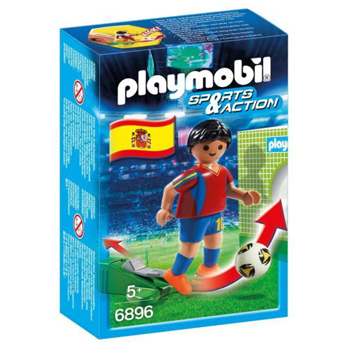 Fotbalista Španělska Playmobil panáček s míčem, 5 dílků