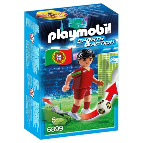 Fotbalista Portugalska Playmobil panáček s míčem, 5 dílků