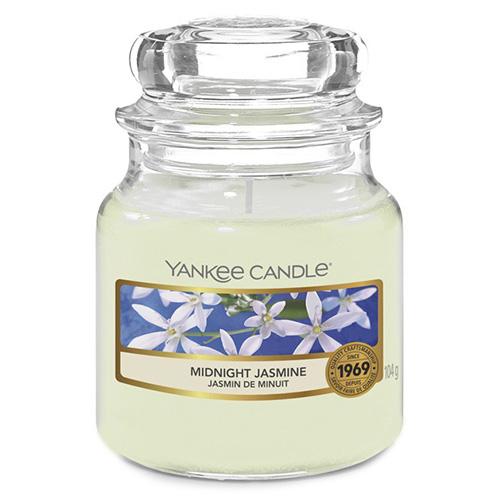 Svíčka ve skleněné dóze Yankee Candle Půlnoční jasmín, 104 g