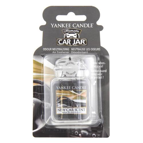 Osvěžovač do auta Yankee Candle Vůně nového auta, 1x visačka