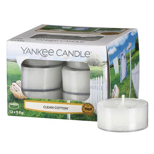 Vonné čajové svíčky Yankee Candle 12 ks - Clean cotton