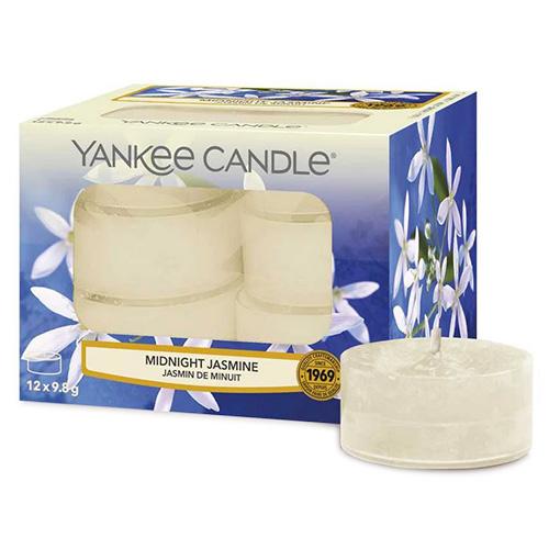 Svíčky čajové Yankee Candle Půlnoční jasmín, 12 ks