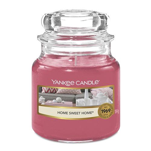 Svíčka ve skleněné dóze Yankee Candle Ó sladký domove, 104 g