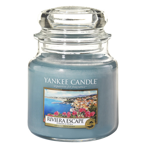 Svíčka ve skleněné dóze Yankee Candle Hurá na riviéru, 410 g