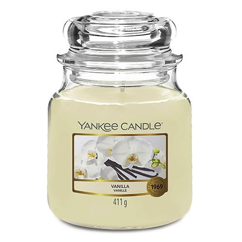 Svíčka ve skleněné dóze Yankee Candle Vanilka, 410 g