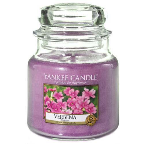 Svíčka ve skleněné dóze Yankee Candle Verbena, 410 g