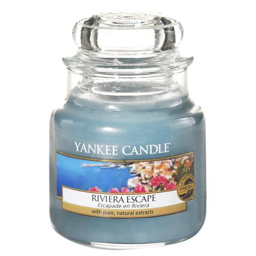 Svíčka ve skleněné dóze Yankee Candle Hurá na riviéru, 104 g
