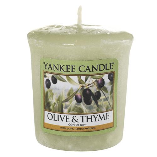 Svíčka Yankee Candle Olivy a tymián, 49 g