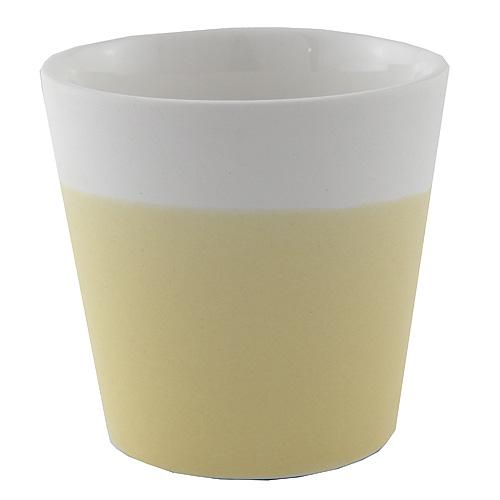 Svícen Yankee Candle Keramický, pastelová žlutá, na votivní svíčku