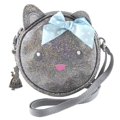 Kabelka My Style Princess Stříbrná Kočička - přes rameno
