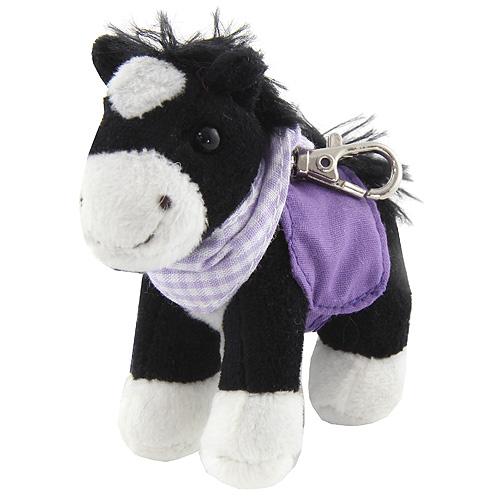Klíčenka Horses Dreams Fialové sedlo a šátek, plyšová
