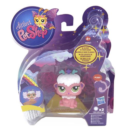 Zvířátko Littlest PetShop Hasbro Se zářícími křídly, barva růžová