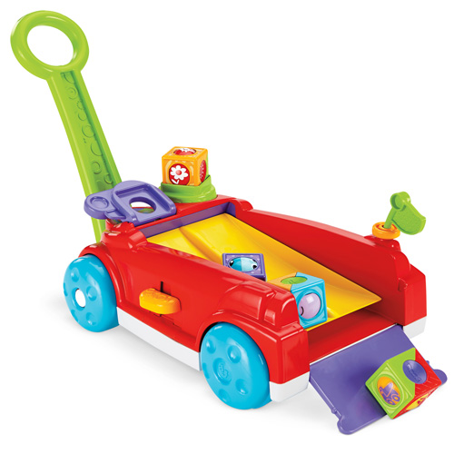 Vozík s kostkami Mattel 4 kostky - hudební hračka