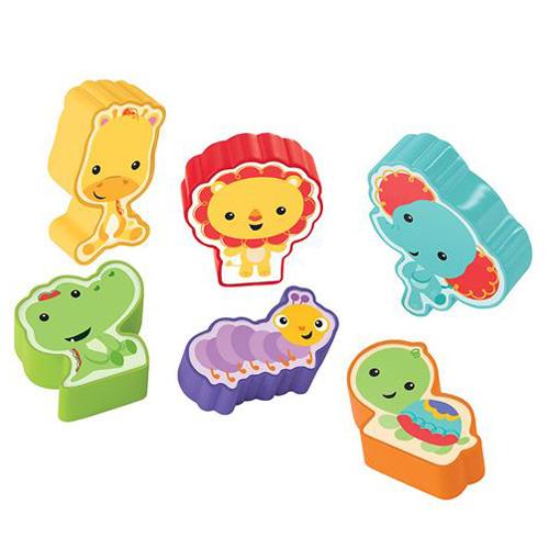 Zvířátkové puzzle Mattel 6 ks - puzzle 2 v 1