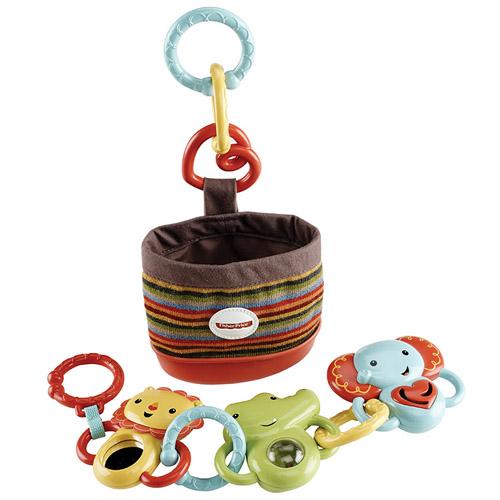 Chrastítka Mattel S pouzdrem Fischer Price