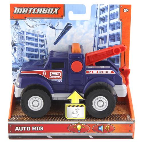 Odtahové auto Mattel S navijákem, 15 cm, barva modrá