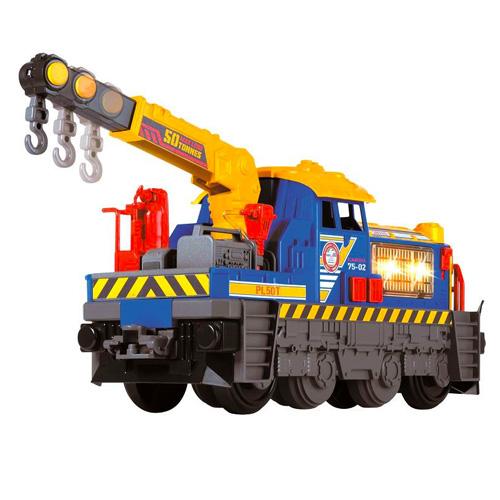 Lokomotiva Dickie velká 33 cm s pohyblivým jeřábem