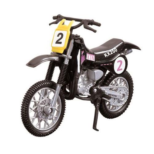Motocykl Dickie Cross  č. 2 - závodní 12 cm, černá