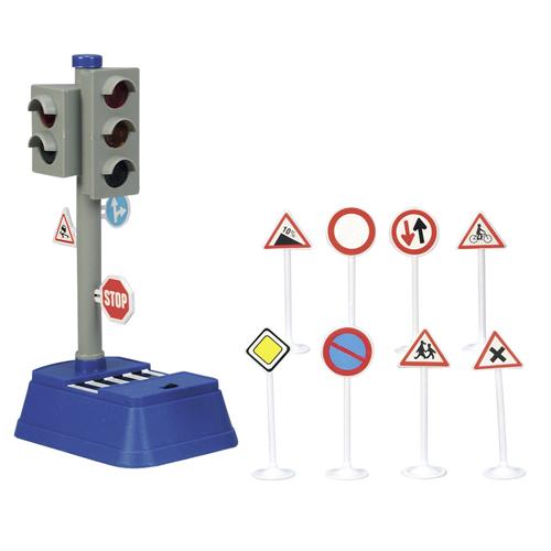 Semafor Dickie Set - značky a semafor, 24 cm