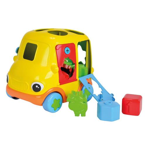 Vkládací autíčko Simba Žluté - 20 cm