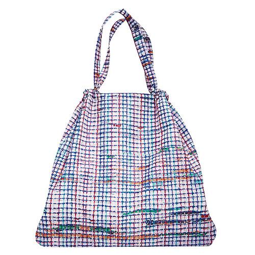Skládací taška Reisenthel Bílá s barevnými proužky | mini maxi loftbag