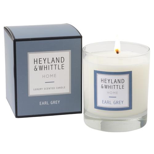 Svíčka skleněná váza Heyland & Whittle Čajová směs Earl Grey, 220 g