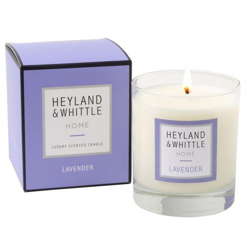 Svíčka skleněná váza Heyland & Whittle Levandule, 220 g