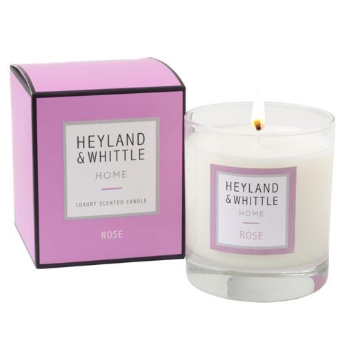 Svíčka skleněná váza Heyland & Whittle Růže, 220 g