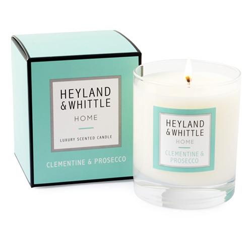 Svíčka skleněná váza Heyland & Whittle Klementínka a Prosecco, 220 g