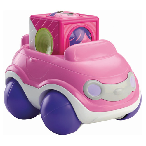 Veselé vozidlo Mattel Růžové - autíčko s kostkou
