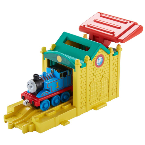 Startovací depo Mattel Depo Tidmouth Sheds - s mašinkou Tomášem