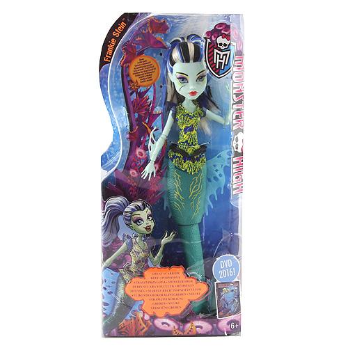 Monster High příšerka Mattel Frankie Stein - mořská