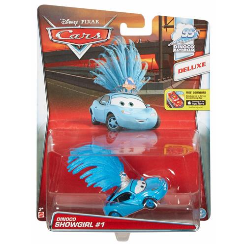 Cars auto Mattel Faninka týmu Dinoko - kovové auto