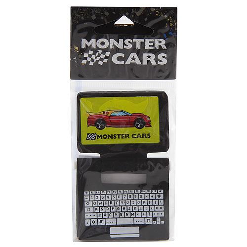 Gumovací pryž Monster Cars Černá - ve tvaru laptopu