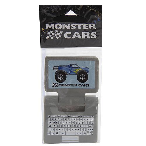 Gumovací pryž Monster Cars Šedá - ve tvaru laptopu