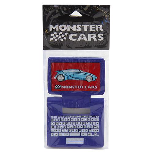 Gumovací pryž Monster Cars Modrá - ve tvaru laptopu