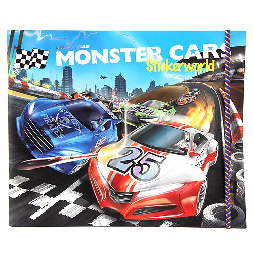 Kreativní sada Create Your Samolepkový svět Monster Cars