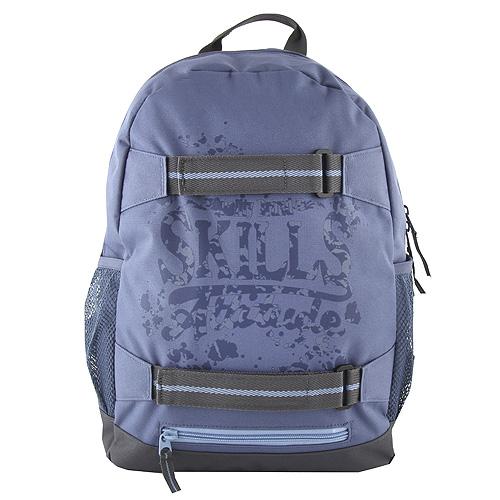Batoh 7Skills Modrý - designový batoh se skate popruhy 45df3f349d