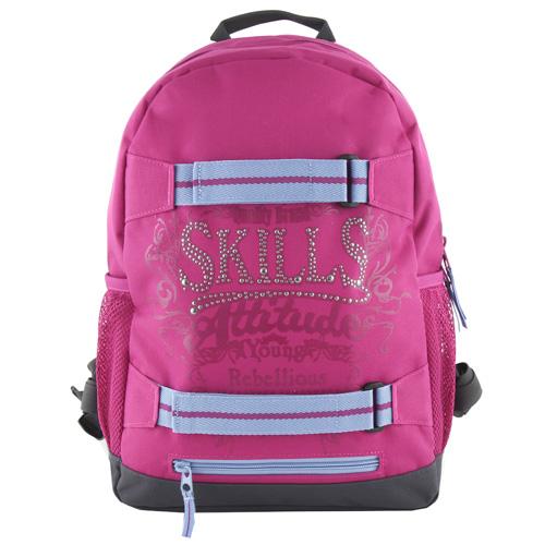 Batoh 7Skills RůžovRůžový - designový batoh se skate popruhyý
