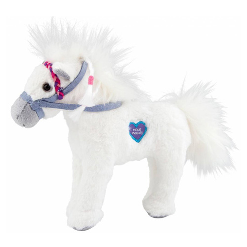 Plyšový koník Miss Melody Sněhově bílý - zvuková plyšová hračka